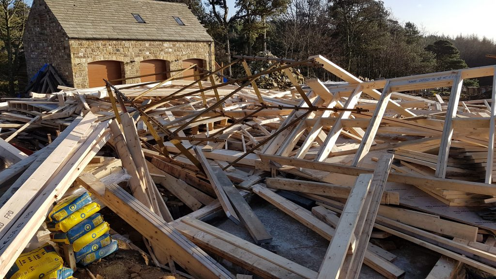 Storm damage to your self build project is fully covered with a Protek self build insurance policy. Competitive quotations available online